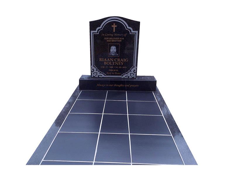 Gardiner Stone - Ceramic photo tiles headstone